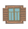 painted window part of the house vector image