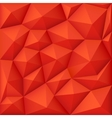 Red 3d polygon background modern origami vector image