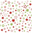 Stars pattern Seamless christmas background vector image