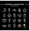 Summer and adventure icons set vector image