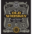 Retro victorian whiskey label vector image