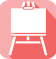 Canvas on an easel Icon vector image vector image