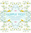 Seamless Nature pattern with birds on tree vector image