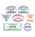 Pacific passport stamps vector image