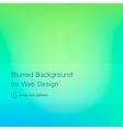 Elegant green blurred background for web design vector image