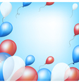 Holiday backgrounds with tricolor balloons vector image vector image