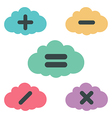 clouds arithmetic vector image