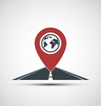 icon pointer location on the road vector image