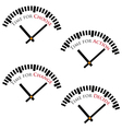 set of time concepts vector image vector image