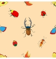 Background of the insects vector image