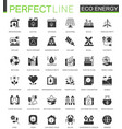 black classic eco renewable energy green vector image