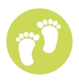 footprint baby isolated icon vector image