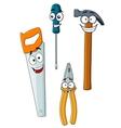 Happy and joyful work tools vector image