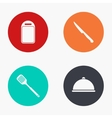 modern kitchen appliances colorful icons vector image