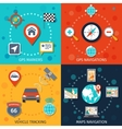 Navigation Flat Set vector image