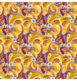 Orange peacock feathers seamless pattern vector image