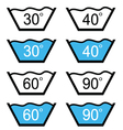 set of washing sign vector image
