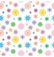 snowflakes color vector image