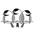 sparrows in winter vector image