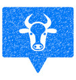 cow banner icon grunge watermark vector image