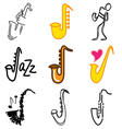 logo icons saxophon vector image vector image