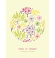 Blossoming trees circle decor pattern background vector image