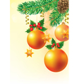 Christmas card with spruce vector image vector image