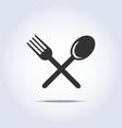 fork spun icon vector image