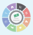 Circle business concepts Infographics vector image