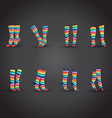 Set of socks vector image vector image