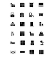 Furniture Solid Icons 3 vector image