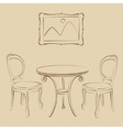 Sketched cafe interior vector image vector image