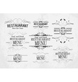 set of templates for restaurant menu vector image vector image