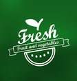 Fresh menu label design lineart concept vector image