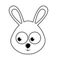 cute rabbit character isolated icon design vector image