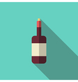 Wine bottle long shadow vector image