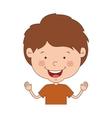 cartoon boy smiling vector image