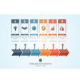 Conceptual Business Timeline Infographic 6 vector image