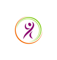 people fitness happy sport yoga logo vector image