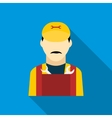 Plumber icon in flat style vector image