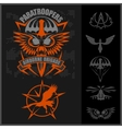 Special unit military emblem set design vector image