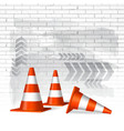Under construction concept background vector image