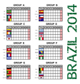 Brazil 2014 Soccer Football Tournament vector image