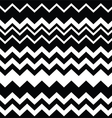 Tribal Aztec zigzag black and white pattern vector image vector image