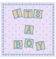 Its-a-boy-card-cubes vector image