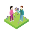 Greeting Card 8 March Woman Day vector image