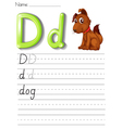 Alphabet worksheet vector image vector image
