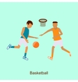 Basketball Players in Match vector image