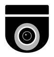 cctv camera on white background cctv sign vector image