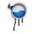 grunge button icon vector image